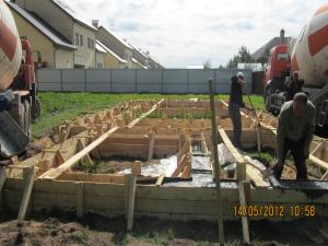 7) Заливка бетона