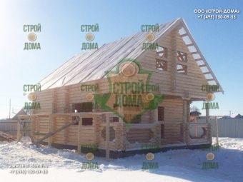 Удачный - 127 d200 (2) дом из оцилинндрованного бревна